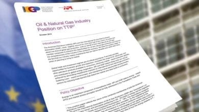 Photo of Oil & natural gas industry position on TTIP