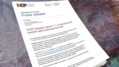 Photo of IOGP releases version 1.1 of geophysical position data exchange formats