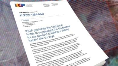 Photo of IOGP publishes the Technical Notes to supplement the Guidelines for the conduct of offshore drilling hazard site surveys
