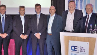 Photo of IOGP directors discourse at Offshore Europe